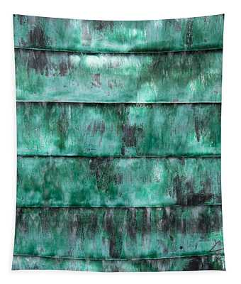 Teal Water Panels Tapestry