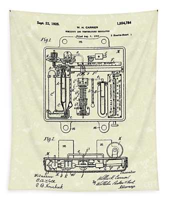 Temperature Regulator 1925 Patent Art Tapestry