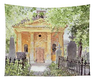 Temple Of Harmony, Vesprem, Hungary, 1996 Wc On Paper Tapestry