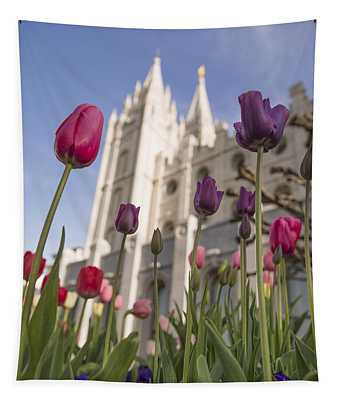 Temple Tulips Tapestry