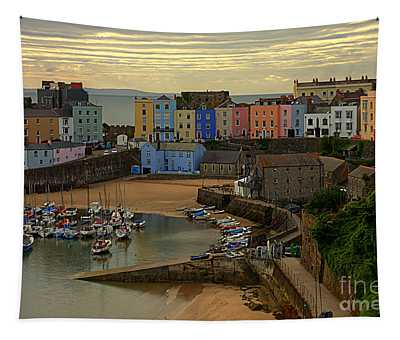 Tenby Harbour In The Morning Tapestry