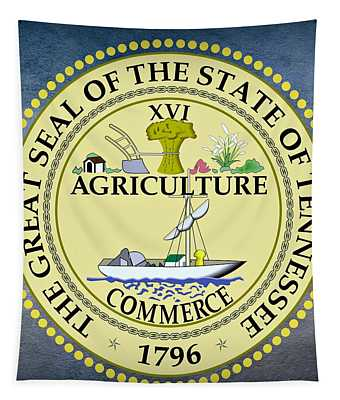 Tennessee State Seal Tapestry
