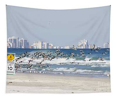 Terns On The Move Tapestry