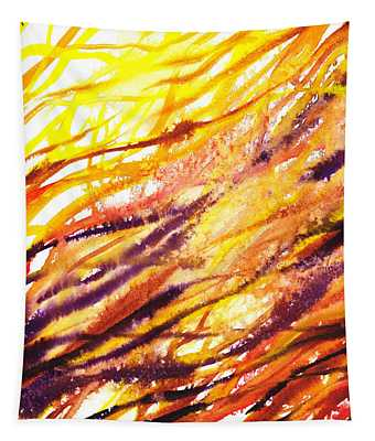 Terrestrial Lines Abstract II Tapestry