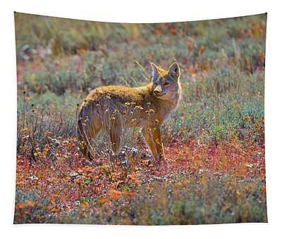 Teton Coyote Tapestry
