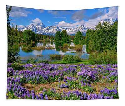 Teton Spring Lupines Tapestry