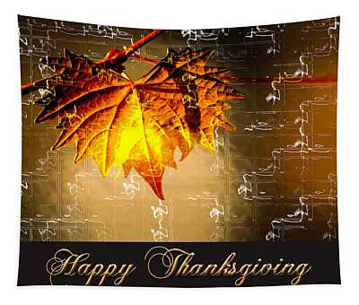 Thanksgiving Card Tapestry