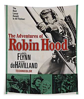The Adventures Of Robin Hood B Tapestry