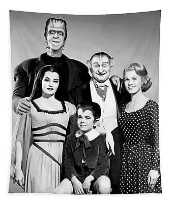The All American Munsters Family Tapestry