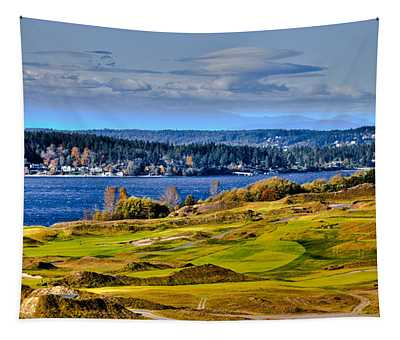 The Amazing Chambers Bay Golf Course - Site Of The 2015 U.s. Open Golf Tournament Tapestry