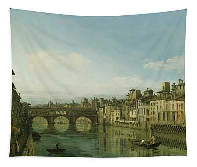 The Arno In Florence With The Ponte Tapestry