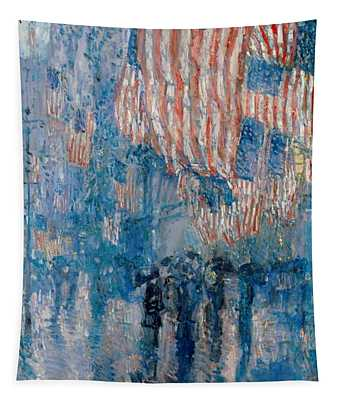 The Avenue In The Rain Tapestry