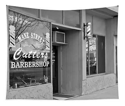 The Barber Shop 3 Bw Tapestry