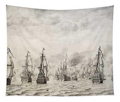 The Battle Of Dunkirk, 1659, By Willem Van De Velde I1611-1693 Tapestry