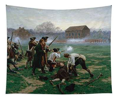 The Battle Of Lexington, 19th April 1775 Tapestry