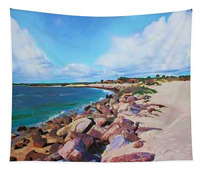 The Beach At Ponce Inlet Tapestry