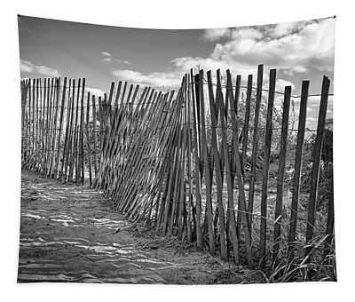 The Beach Fence Tapestry