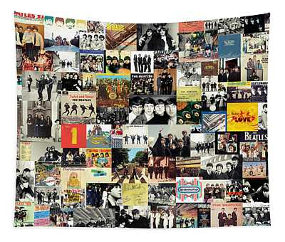 The Beatles Collage Tapestry
