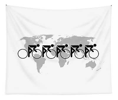 The Bicycle Race 3 Tapestry