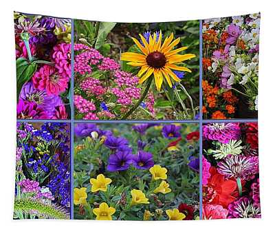 Summer Blossoms - A Collage Tapestry
