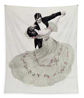 The Blue Waltz Tapestry