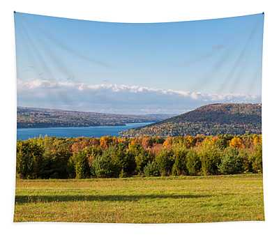 The Bluff On Keuka Lake In Autumn Tapestry