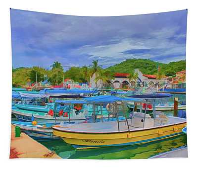 The Boats Of Hautulco Tapestry