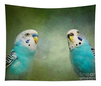 The Budgie Collection - Budgie Pair Tapestry