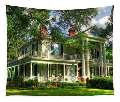 A Southern Bell The Carlton Home Art Southern Antebellum Art Tapestry