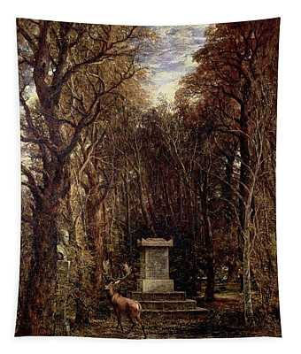 The Cenotaph To Reynolds Memory, Coleorton, C.1833 Oil On Canvas Tapestry