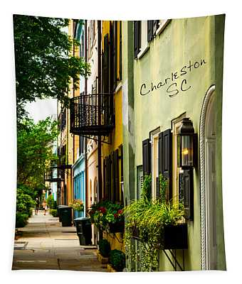 The Charm Of Charleston Tapestry