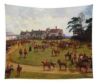 The Cheshire Hunt    The Meet At Calveley Hall  Tapestry
