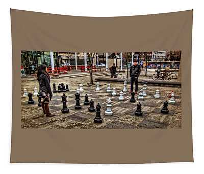 The Chess Match In Portland Tapestry
