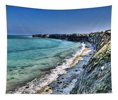 The Cliffs Of Pointe Du Hoc Tapestry