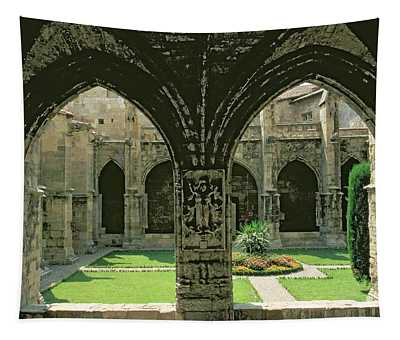 The Cloister Garden, Seen From One Of The Galleries, 1272-1340 Photo Tapestry