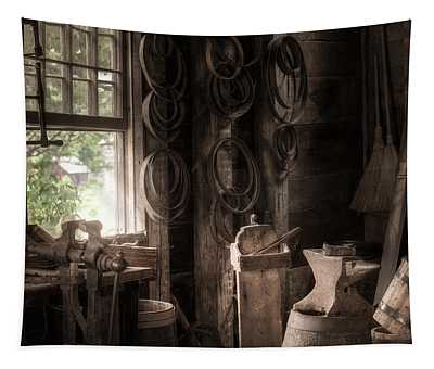 The Coopers Window - A Glimpse Into The Artisans Workshop Tapestry