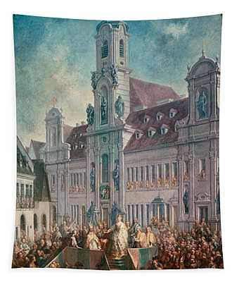 The Coronation Of Empress Maria Theresa Of Austria 1717-80 In Pressburg, 1768 Tapestry