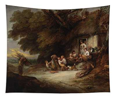 The Cottage Door, C.1777-78 Oil On Canvas Tapestry