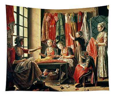 The Couturiers Workshop, Arles, 1760 Oil On Canvas Tapestry