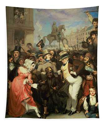 The Crowd, 1841 Oil On Canvas Tapestry
