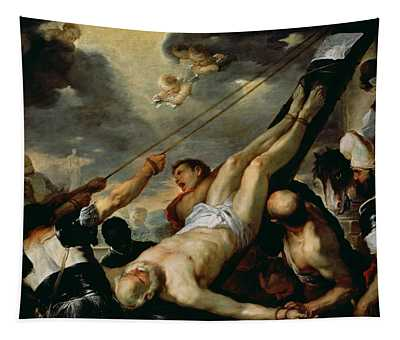 The Crucifixion Of Saint Peter, C.1660 Oil On Canvas Tapestry