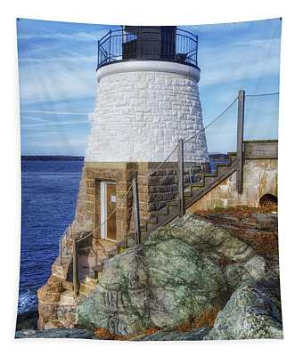 Castle Hill The Cutest Lighthouse In The World Tapestry