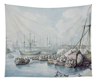 The Disembarkation Of The Royalists Of Toulon At Southampton In 1794 Tapestry