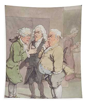 The Doctors Consultation, 1815-1820 Pen And Ink And Wc Over Graphite On Paper Tapestry