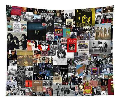 The Doors Collage Tapestry