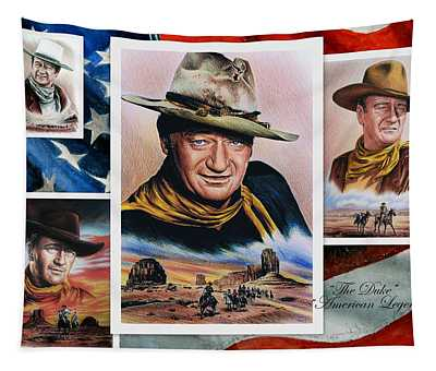 The Duke American Legend Tapestry by Andrew Read