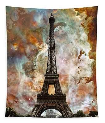 The Eiffel Tower - Paris France Art By Sharon Cummings Tapestry