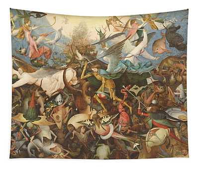 The Fall Of The Rebel Angels, 1562 Oil On Panel Tapestry