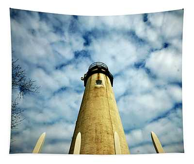 The Fenwick Light And A Mackerel Sky Tapestry