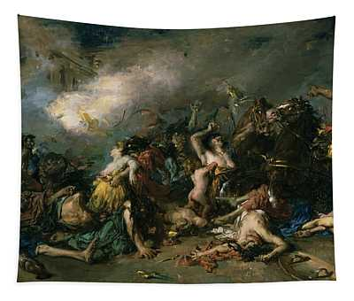 The Final Day Of Sagunto In 219bc, 1869 Oil On Canvas Tapestry